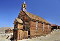 Bodie Methodist Church, Ca. by Letsemgo, via Flickr
