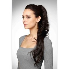 Glam Clip-In Ponytail by Hothair ($84) ❤ liked on Polyvore featuring accessories, hair accessories and hair