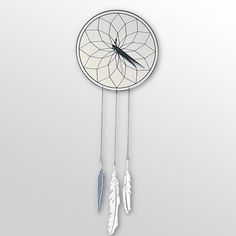 Dream-Catcher clock! I don't want this exact one, but I would like a dream catcher wall clock some day