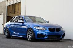 Estoril Blue Gets Transformed - BBS and M Performance Parts Bmw M235i, E60 Bmw, Bmw 2, Bmw Performance, 135i, F22, Car Mods, Bmw Cars, Sport Cars