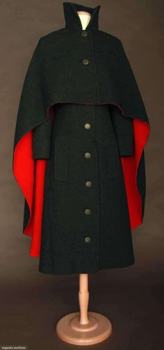 Pierre Cardin Coat Dress & Cape, 1970s, Augusta Auctions, November 13, 2013 - NYC, Lot 236 [ingrid]