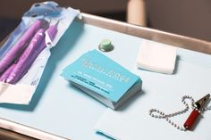 Custom business card design for Oak Ridge Orthodontics.