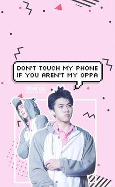 Kết quả hình ảnh cho don't touch my ipad if you're EXO