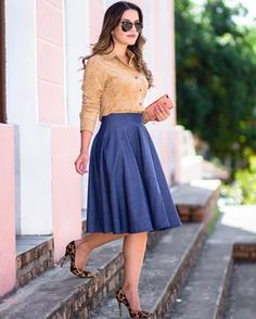skirt designs for dresses Modest Dresses, Modest Outfits, Classy Outfits, Skirt Outfits, Modest Fashion, Dress Skirt, Casual Outfits, Fashion Dresses, Cute Outfits