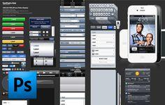 iOS 5 GUI template - http://www.teehanlax.com/downloads/ios-5-gui-psd-iphone-4s/