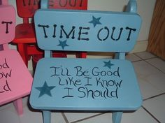 TIME OUT CHAIR by woodenwhimsie on Etsy