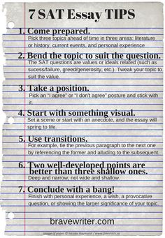 Do you have a teen getting ready to take the SAT test? Here are helpful tips for the essay portion.