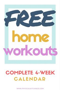 4 weeks of FREE workouts you can do at home. Easy step-by-step tutorials including HIIT workouts, weight training, and total body sculpting.