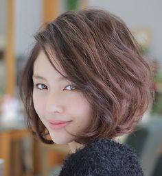 Short Bob Hairstyles, Pretty Hairstyles, Medium Hair Styles, Curly Hair Styles, Hair Arrange, Asian Hair, Short Hair Cuts For Women, Love Hair, Hair Today