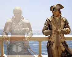 assassin's creed. Connor and Edward Kenway. Grandfather and Grandson. Fuk u Haytham