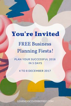 My goal for you? You never feel overwhelmed again.   How do you make that happen?   You build a realistic plan that you can actually implement so you start to get results.    That's why you want to join us in the (free) Business Planning Fiesta; where overwhelmed creative entrepreneurs craft a plan so they always know their next move.