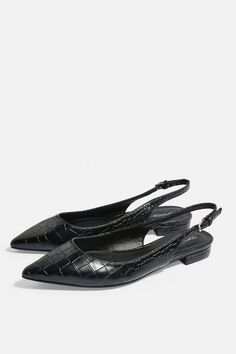 5ae4641200cf Womens Ally Slingback Point Shoes - Black