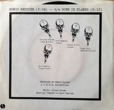 """Dead Boys - Sonic Reducer / Down In Flames 7"""" Single 45 rpm Vinyl Record   by firehouse.ie"""