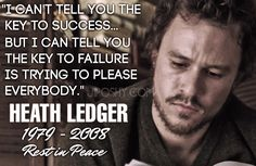 Heath ledger. Awww