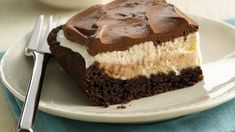 The popular restaurant mud slide drink with coffee and chocolate is transformed into an easy freezer dessert.