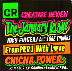 Creative Review - CR January 2010 cover - Chicha power!
