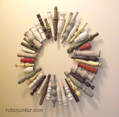 Add a clock to this and it would be cool over the mantle!! DIY Craft Projects using Old Balusers and Spindles - Trash to Treasure