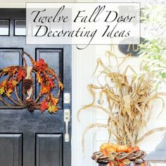 Twelve Fall Door Decorating Ideas