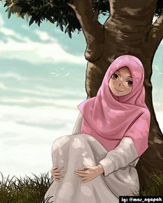 No photo description available Girl Cartoon, Cartoon Art, Hijab Drawing, Islamic Cartoon, Hijab Cartoon, Islamic Girl, Girl Hijab, Muslim Girls, Muslim Women
