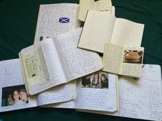 Peek Inside a Journal - writing and photos