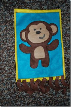 DIY pin the tail on the monkey...this would be adorable in pink and green for a girl mod monkey party game!