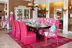 Pink Dinning Room
