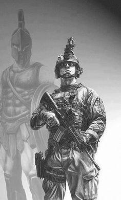 Warrior Spirit......See our Military & 1st Responder Car Door Logo Lights only at www.Blackenwolf.com