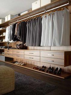 La organización del vestidor
