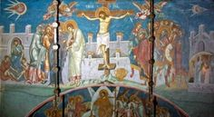The Ancient Aliens - Alien Art - Crucifixion of Christ - 1327 Crucifixion Painting, Crucifixion Of Jesus, Jesus Painting, Jesus Christ, Painting Art, Ancient Aliens Meme, Aliens And Ufos, Religious Paintings, Religious Art