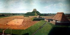 Model of Cahokia Mounds (by Thank You (21 Millions+) views) - Model of Cahokia Mounds, Illinois, which flourished between c. 650 - c. 1350 CE.