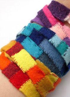 Sewing Felt Bracelets for Kids