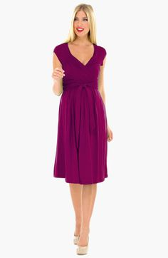 Olian Ruched Shoulder Maternity Dress available at #Nordstrom
