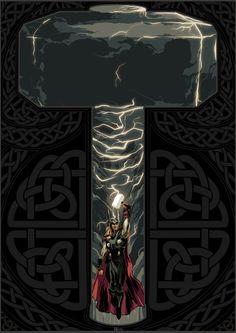 Thor Hammer Art Print