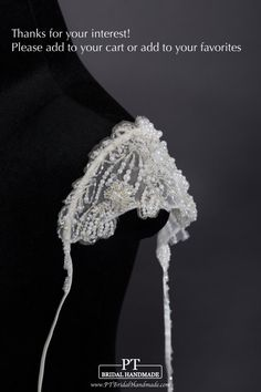 Embellished Detachable Sleeves for Wedding by PTBridalHandMade