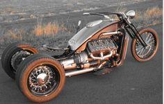 Ford V8 powered custom trike