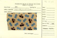 Cherry print on cotton. Company: Pacific. 1885.