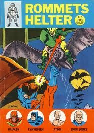 "Norwegian super-hero magazine from 1966 (""Rommets Helter"")."