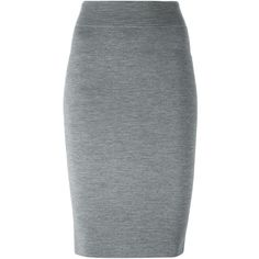 Alexander McQueen knit pencil skirt (1,330 CAD) ❤ liked on Polyvore