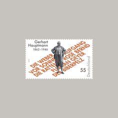 typographic stamp germany/deutschland