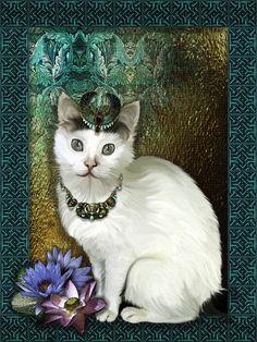 An Ode to Bastet - Diva Feline portrait of the beautiful Diva in an Egyptian inspired scenario - or rather Art Déco! Dog Art, Egyptian, Diva, Art Deco, Kitty, Fantasy, Inspired, Portrait, Gallery