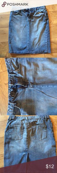 Gap denim skirt 21 inches long Gap Skirts Pencil
