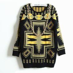 Tribe Pattern Sweater
