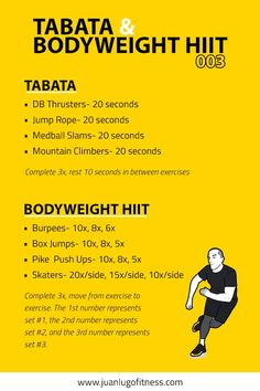 Total Body Conditioning- Tabata & Bodyweight HIIT 003 Visual Workouts For Everyone Amrap Workout, Tabata Workouts, At Home Workouts, Boxing Workout, Extreme Workouts, Hiit Benefits, Workout Session, I Work Out, Total Body