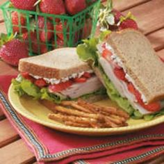 Thanksgiving Recipes | Berry Turkey Sandwich Recipe photo by Taste of Home