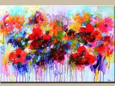 ORIGINAL-Gemälde abstrakt blumen Malerei bunte von artbyoak1