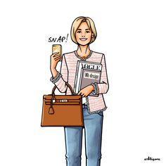 Иллюстрация, созданная для одной из наших прекрасных заказчиц☺️❤️✏️ #girlsinbloom #illustration #fashionillustration #art_fashion #vogue #hermes #chanel #iphone #иллюстрация #чехолнаайфон #чехолнателефон #арт