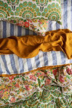 Society of Wanderers Marianne floral pillowcase set Textiles, Home Bedroom, Bedroom Decor, Master Bedroom, Linen Bedding, Bedding Sets, Cot Duvet, Linen Pillows, Linen Fabric