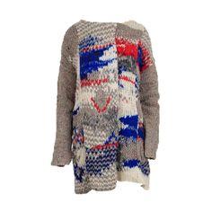 Free People Womens Wool Crochet Sweatercoat