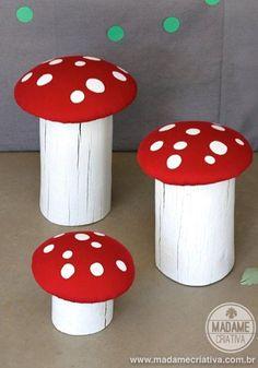 Na minha infância joguei muito video game do Super Mário Bros e talvez seja por isso que adoro cogumelos vermelhos com pintinhas brancas! A Arte Gráfica do jogo usava cores vibrantes, formas...