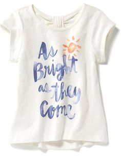 Graphic Bow-Back Tee for Baby Product Image